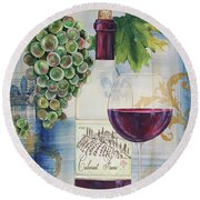 Royal Wine-a Round Beach Towel