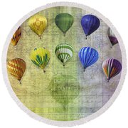 Roygbiv Balloons Round Beach Towel