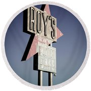 Roys Motel And Cafe Round Beach Towel