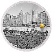 Rubber Duck - Pittsburgh, Pennsylvania Round Beach Towel