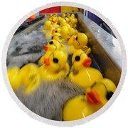 Rubber Duckies Round Beach Towel