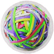 Rubberband Ball I Round Beach Towel
