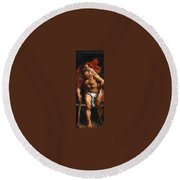 Rubens Descent From The Cross Detail Outside Left Peter Paul Rubens Round Beach Towel