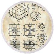 Rubik's Cube Patent 1983 - Vintage Round Beach Towel