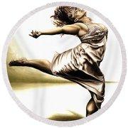 Rubinesque Dancer Round Beach Towel