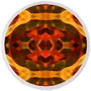 Ruby Crystal Pattern Round Beach Towel