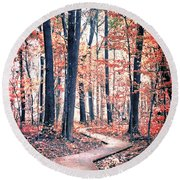 Ruby Forest Round Beach Towel