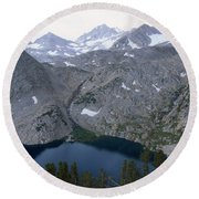 Ruby Lake Round Beach Towel