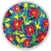 Ruby Reds.  Round Beach Towel