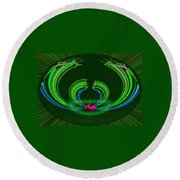 Ruby Singularity In Emerald Sapphire Nest Round Beach Towel