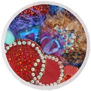 Ruby Slippers 3 Round Beach Towel