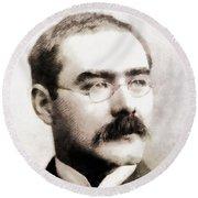 Rudyard Kipling, Literary Legend Round Beach Towel