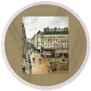 Rue Saint Honore Round Beach Towel
