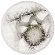 Ruffled Flower Round Beach Towel