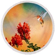 Rufous Dream Round Beach Towel