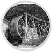 Ruidoso Waterwheel Round Beach Towel