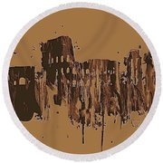 Ruins Of Rome Round Beach Towel
