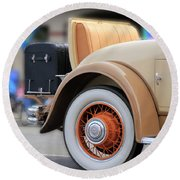 Rumble Seat Round Beach Towel