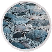 Ruminated Round Beach Towel