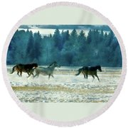 Run With The Wind Round Beach Towel