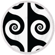 Running Spirals Round Beach Towel