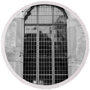 Ruprechtsbau Window B W Round Beach Towel