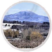 Rural Beauty Vermont Style Round Beach Towel