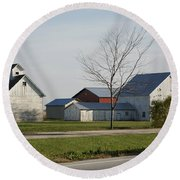 Rural Farm Central Il Round Beach Towel