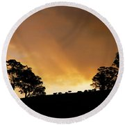 Rural Glory Round Beach Towel