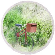 Rural Mailbox Round Beach Towel