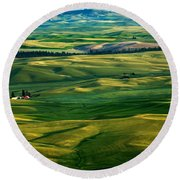 Rural Tapestry Round Beach Towel