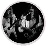 Rush 77 #46 Enhanced Bw Round Beach Towel