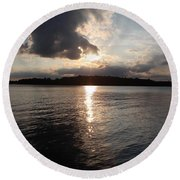Rush Lake  Round Beach Towel