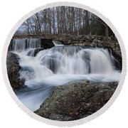 Rushing Falls Round Beach Towel