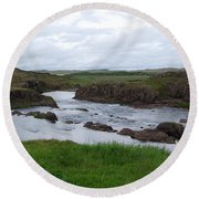 Rushing River Round Beach Towel