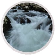 Rushing Waters Round Beach Towel