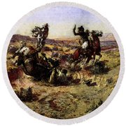 Russell Charles Marion The Broken Rope Round Beach Towel