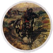 Russell Charles Marion The Scouting Party Round Beach Towel