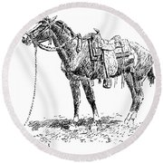 Russell: Rawlins Horse Round Beach Towel