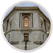 Russell Senate Office Building Round Beach Towel