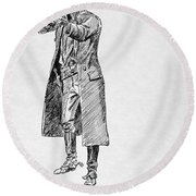 Russell: Stage Robber Round Beach Towel