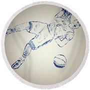 Russell Westbrook Round Beach Towel