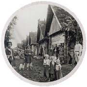 Russia: Peasants Round Beach Towel