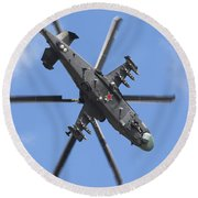 Russian Air Force Ka-52 Helicopter Round Beach Towel