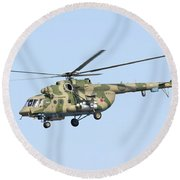 Russian Air Force Mi-171sh Helicopter Round Beach Towel