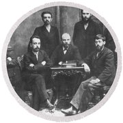 Russian Marxists, 1897 Round Beach Towel