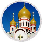 Russian Orthodox Round Beach Towel