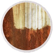 Rust 01 Round Beach Towel