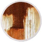 Rust 02 Round Beach Towel