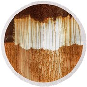 Rust 03 Round Beach Towel